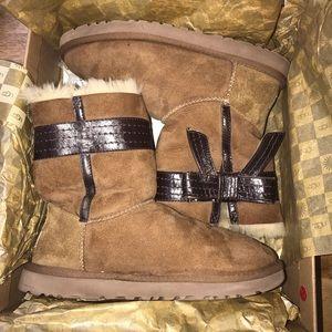 UGG Josette Chestnut Boots size 8 - Hard To Find!